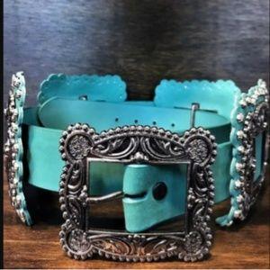 L&B Womens real Leather Belt
